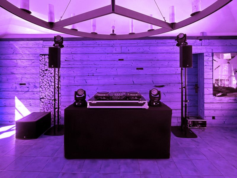 Musik-und Lichtanlage Hochzeit 2021